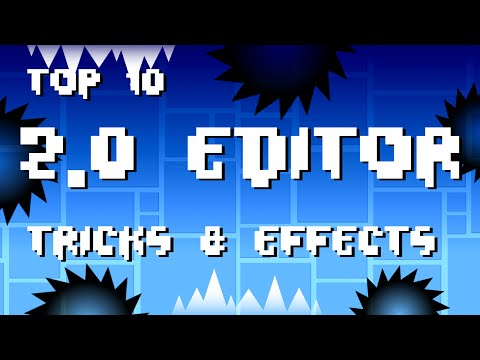 Top 10 2.0  EDITOR Tricks & Effects | Geometry Dash
