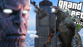 Thanos VS NEW Godzilla: King of the Monsters MOD (GTA 5 PC Mods Gameplay)