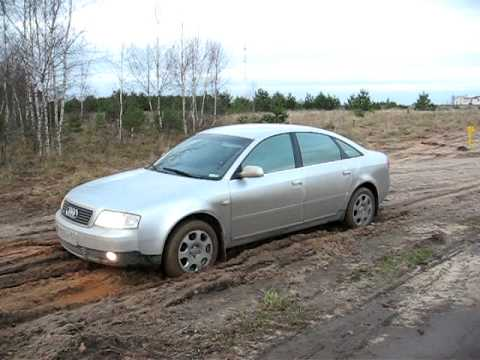 Audi A6 Quattro in mud (