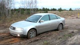 Audi A6 Quattro in mud (ESP ON & OFF)