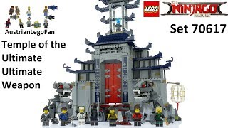 Lego Ninjago Movie 70617 Temple of the Ultimate Ultimate Weapon - Lego Speed Build Review