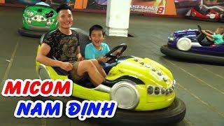 Tập 1❤Bé dương lái xe đụng điện, ngồi ô tô bay tại khu vui chơi dành cho trẻ em MICOM❤Kênh Em Bé