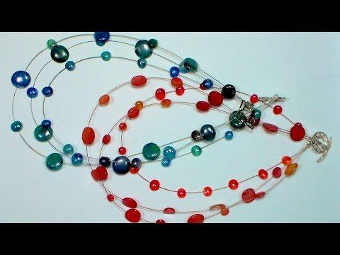 DIY Hot Glue Multistrand Necklace
