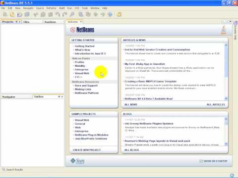how to set up netbeans for java