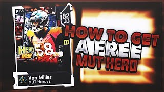 HOW TO GET A FREE FULL MUT HERO! FREE 90+ OVERALL ELITE IN MADDEN 19 ULTIMATE TEAM!