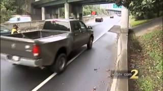 Drugged Out Delusional Drooling Man Crashes Truck Then Flees the Scene