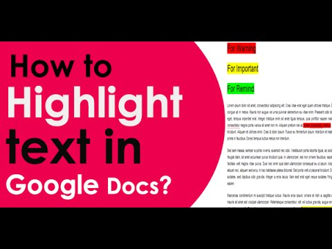 How to highlight text in google docs 2014 youtube for Google docs add highlight