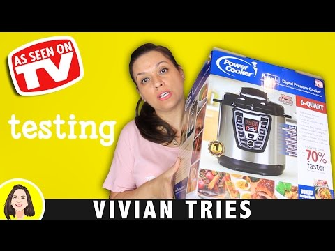 PRESSURE COOKER REVIEW   TESTING AS SEEN ON TV PRODUCTS