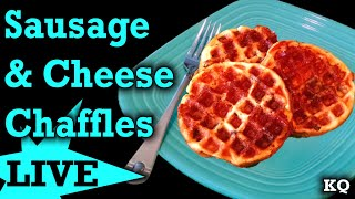 LIVE: Sausage & Cheese Chaffles