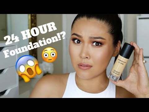 24 HOUR FOUNDATION?! Bare Minerals Bare Pro Review & Test   MARLA NYAMDORJ