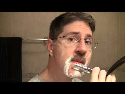 Custom Gold Dollar straight razor shave