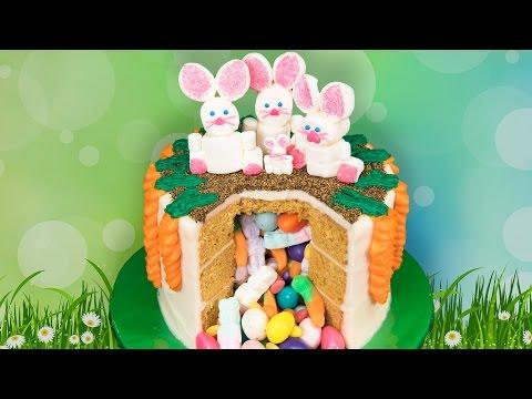 Easter Candy Pinata Cake - Húsvéti torta