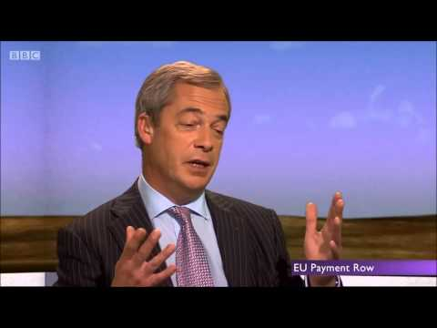 We should stop paying the EU says Nigel Farage