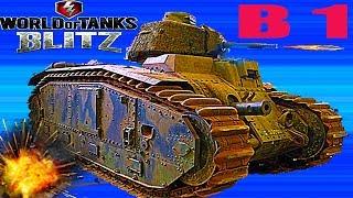 WoT Blitz обзор танк французский В 1 новичкам французская  ветка World of Tanks Blitz#39