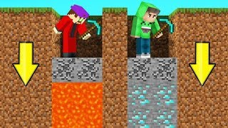 MINECRAFT But You Can ONLY DIG STRAIGHT DOWN! (Impossible)
