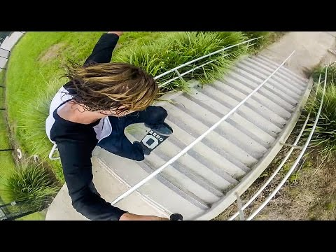 17 Stair Lipslide - Kanaan Dern - SkateboardingIsFun August Winner