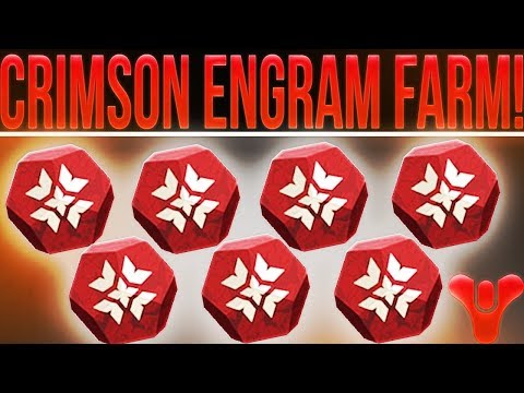 Destiny 2. EASY/FAST CRIMSON ENGRAM FARMING! (Without Playing PvP) Best Crimson Days Farm!