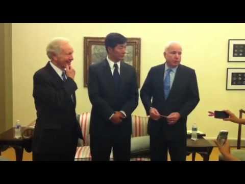 Kalon Tripa & US Senator making brief press statement.MOV
