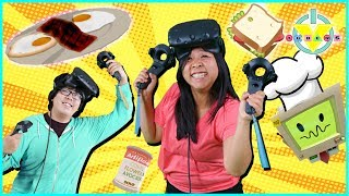 Virtual Reality VR Job simulator  Let's Play with Ryan's Mommy and Daddy