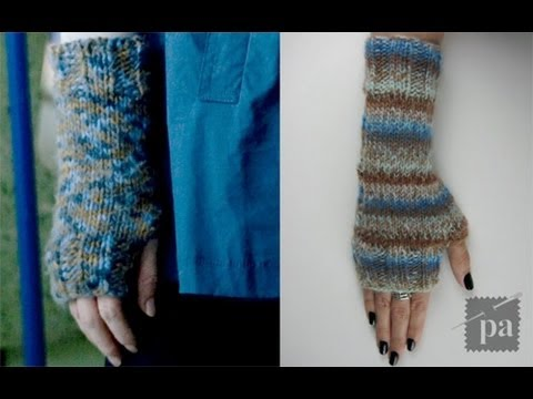 Easy Knit Fingerless Gloves Tutorial