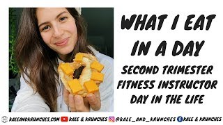 What I Eat in a Day | Second Trimester, Fitness Instructor, Day in the Life