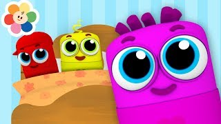 Ten in The Bed Song | Popular Nursery Rhymes Songs for Children With Color Crew Babies | BabyFirst