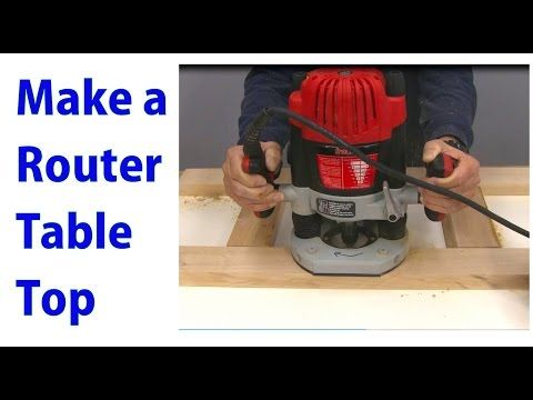 Making a Router Table Top -  a woodworkweb video