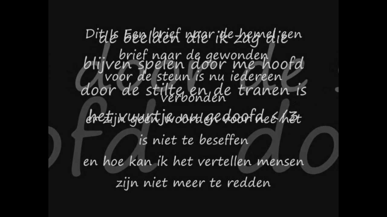 K-flow - Een brief ( rip slachtoffers pukkelpop ) lyrics ...