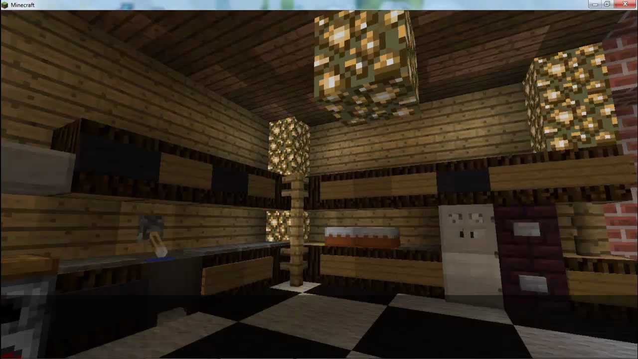 How to make a modern kitchen minecraft ep 1 of house for Kitchen ideas on minecraft