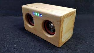 Chế Loa Bluetooth Mini Với Gỗ Pallet
