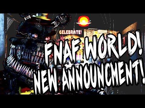 FNAF WORLD! NEW GAME! || RPG ANNOUNCED! PLAY AS THE ANIMATRONICS! || FNAF WORLD