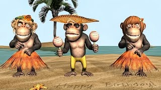 Funny Happy Birthday Song Monkeys sing Happy Birthday To You