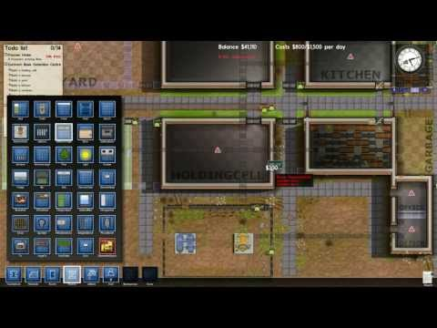 Prison Architect v1 Part 1: Setting up the basics