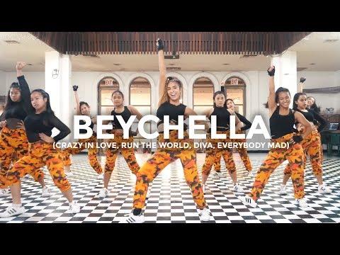 Beyoncé Remix - Crazy In Love, Run The World, Diva, Everybody Mad (Dance Video) | beychella