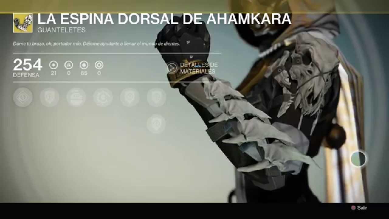 Destiny La Espina Dorsal De Ahamkara
