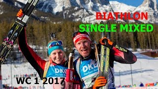 BIATHLON SINGLE MIXED RELAY 26.11.2017 World Cup 1 Oestersund (Sweden)