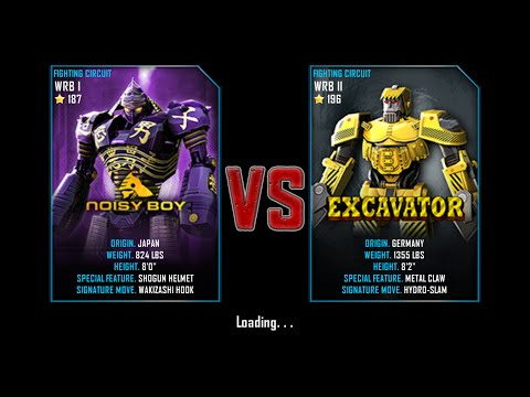 Real Steel WRB Free Sparring Noisy Boy VS Excavator NEW ROBOT UPDATE