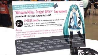 Hatsune Miku: Project Diva F Tournament at Anime Expo 2014