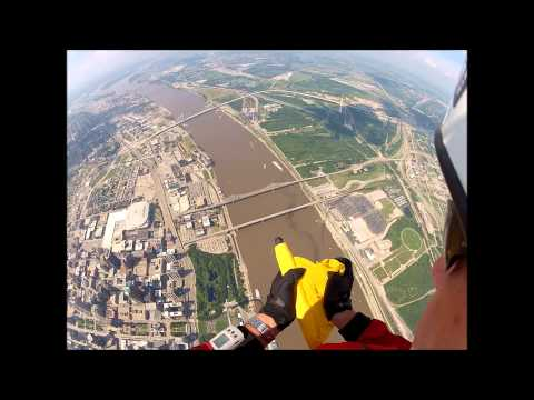 St. Louis Arch Flag Jump July 4th 2013