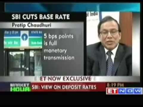 State Bank of India cuts base rate by 5 basis points