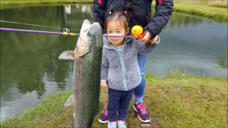 Blake & Emily go fishing - Little kids fishing for trout
