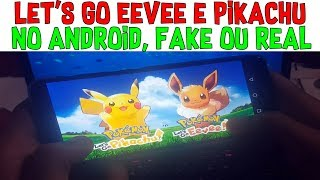 Pokémon Let's Go Eevee e Pikachu Para Android! Real Ou Fake? Gameplay e Download