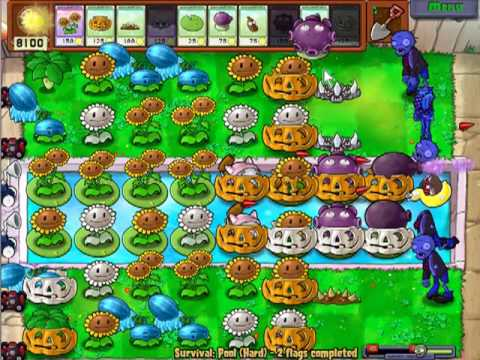 Plants vs zombies Survival endless setup tutorial