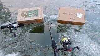 INSANE Ice Fishing Challenge!!! LOSER BITES THE HEAD OFF A LIVE FISH