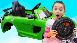 Learn Colors With Story - The wheel feel off on POWER Eheel Funny Baby Drive on Mercedes AMG