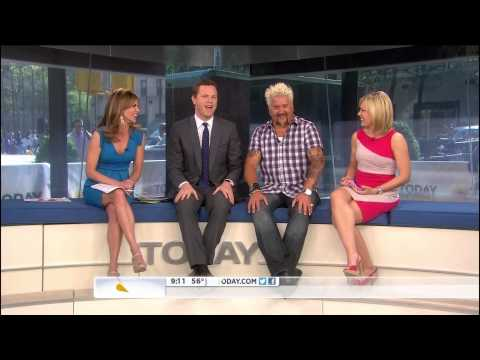 Natalie Morales & Dylan Dreyer - short skirts and high heels