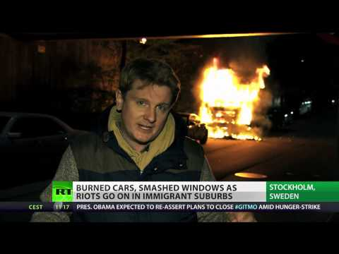 Sweden burning: Stockholm riots & violence enter 4th day
