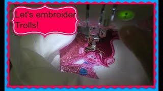Embroidering out Trolls & Journey gets a new toy~ vlog~ April 9, 2018