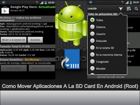 Como Mover Aplicaciones A La SD Card En Android (Root)