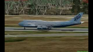 FSX with Intel Core i7 2600K 3.4 GHz. - PMDG 747 landing at YMML